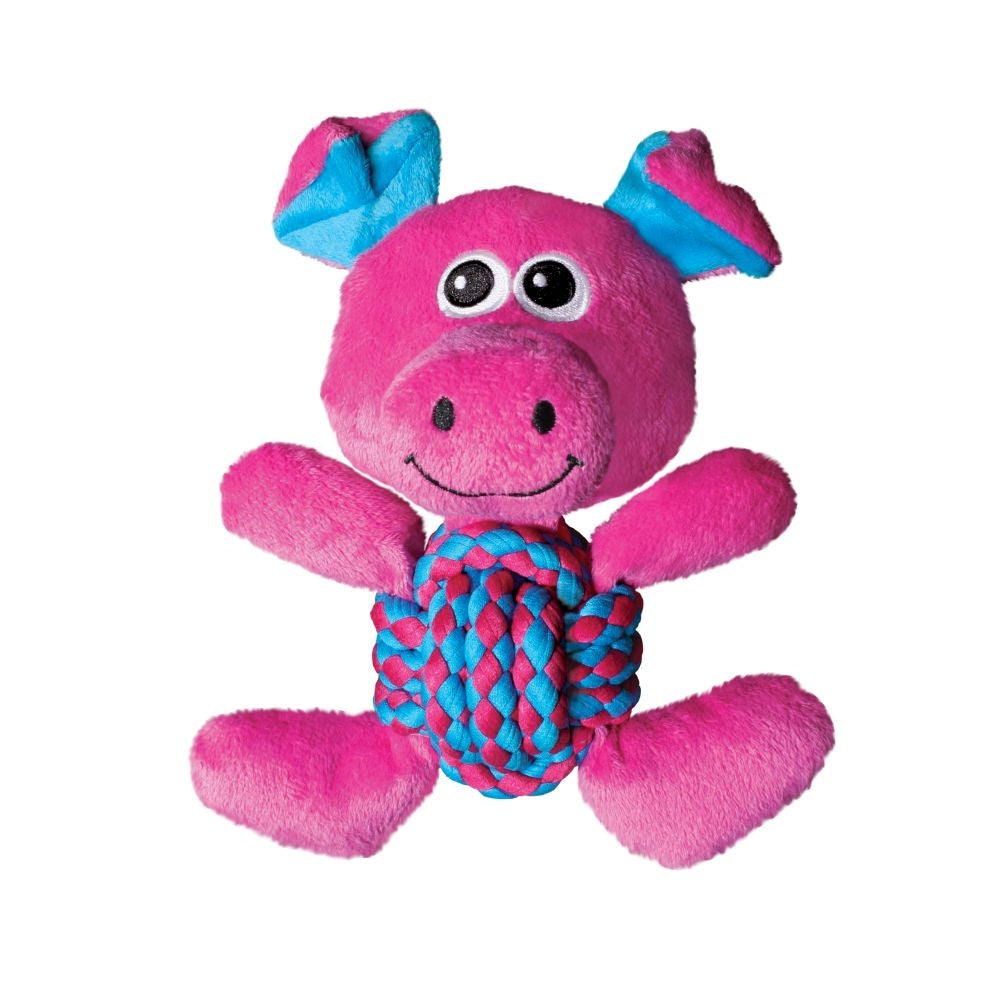 KONG Weave Knot Pig Dog Toy