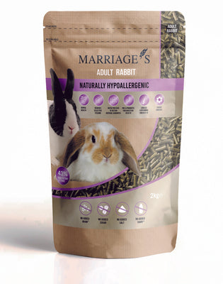 Marriages Hypoallergenic Nutri Pressed 2kg Rabbit Pellets