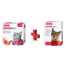 Fiprotec Cat  Flea Treatment and WormClear Special Easter Offer