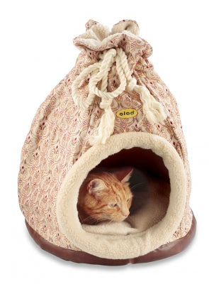 Cat Bed Hooded Igloo Duffle Large Versailles Gold