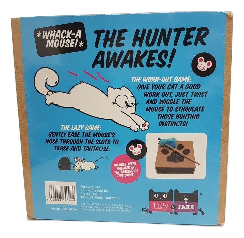 Lilly & Jake Whack a Mouse Cat Toy