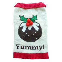 Xmas Pudding Dog Jumper