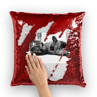 Personalised Pet Photo Sequin Cushion Cover