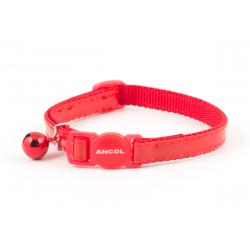 Ancol Cat Collar Gloss Reflective Red