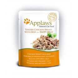 Applaws Cat Pouch Jelly Chicken & Beef Cat Food 70g