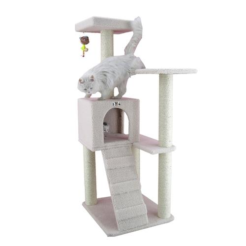 Cat Tree, 63 x 58 x 135 cm, Ivory by Armarkat