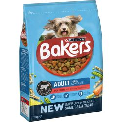 Bakers Adult Beef & Vegetables 3kg Dog Food