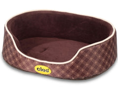 Brown & Gold Oxford Pet Bed
