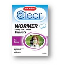 Bob Martin Clear All in One Wormer Tablets Large Dog 500mg