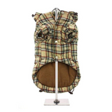 Brown Tartan Dog Coat