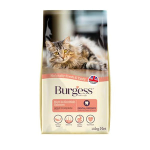 Burgess Adult Cat Scottish Salmon 10kg