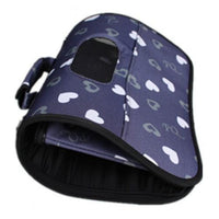 Dog Carrier Pet Navy Hearts Medium