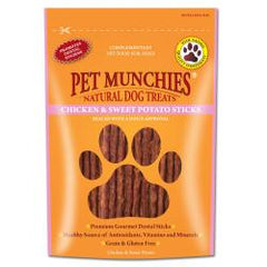 Pet Munchies Chicken and Sweet Potato Dental Sticks Dog Treats