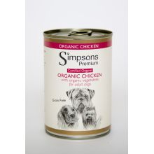Simpsons Organic Chicken Dog Food 6 x 400g
