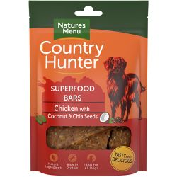 Country Hunter Chicken with Coconut & Chia Seeds Dog Treats 100g