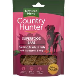 Country Hunter Salmon & White Fish with Cranberries & Kelp Dog Treats 100g