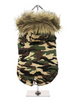 Forest Camouflage Fish Tail Dog Parka
