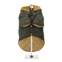 Forest Green Quilted Town & Country Dog Coat
