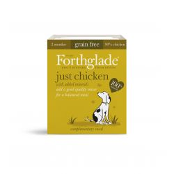 Forthglade Adult Just Chicken Grain Free 18 x 395G Dog Food