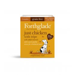 Forthglade Just Chicken with Tripe Grain Free 18 x 395G Dog Food