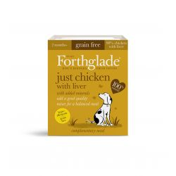 Forthglade Just Chicken with Liver Grain Free 18 x 395G Dog Food