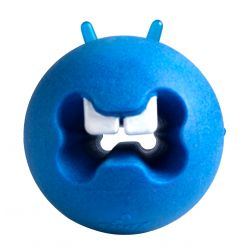 Rogz Fred Blue Treat Ball Dog Toy
