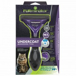 FURminator Undercoat deShedding Tool for Medium/Large Cat Long Hair