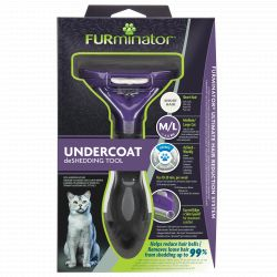 FURminator Undercoat deShedding Tool for Medium/Large Cat Short Hair