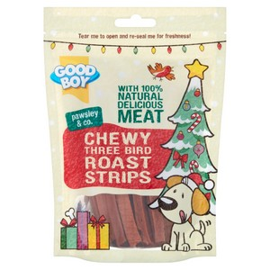 Good Boy Three Bird Roast Strips Dog Treats