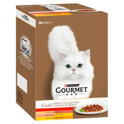 Gourmet Gold Multi Variety Gravy Collection 12 x 85G Pack Cat Food