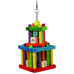 Happy Pet Building Block Maze Toy for Parrots and Large Birds