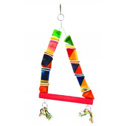 Happy Pet Parrot Wood & Leather Toy