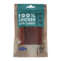 Hollings 100% Chicken Bars with Carrot 7 Pack