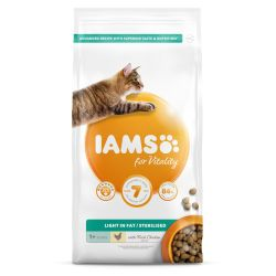 IAMS for Vitality Light in fat Sterilised Cat Food with Fresh Chicken 2kg