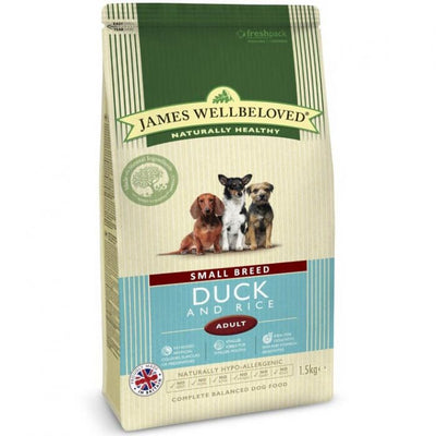 James Wellbeloved Duck & Rice Dog Adult Small Breed