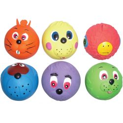 Good Boy Latex Face Balls Dog Toy 6 Balls