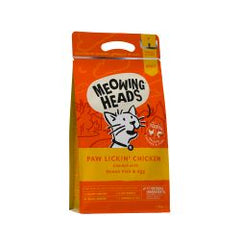 Meowing Heads Paw Lickin Chicken Cat Food 1.5kg