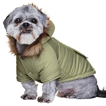 Mod Fishtail Parka Dog Coat Small 8