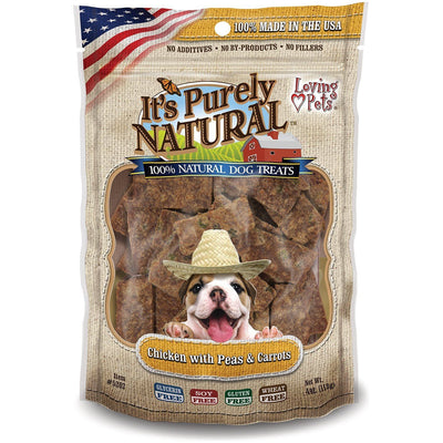Dog Treats It's Purely natural Chicken with Peas and Carrots, 113 g