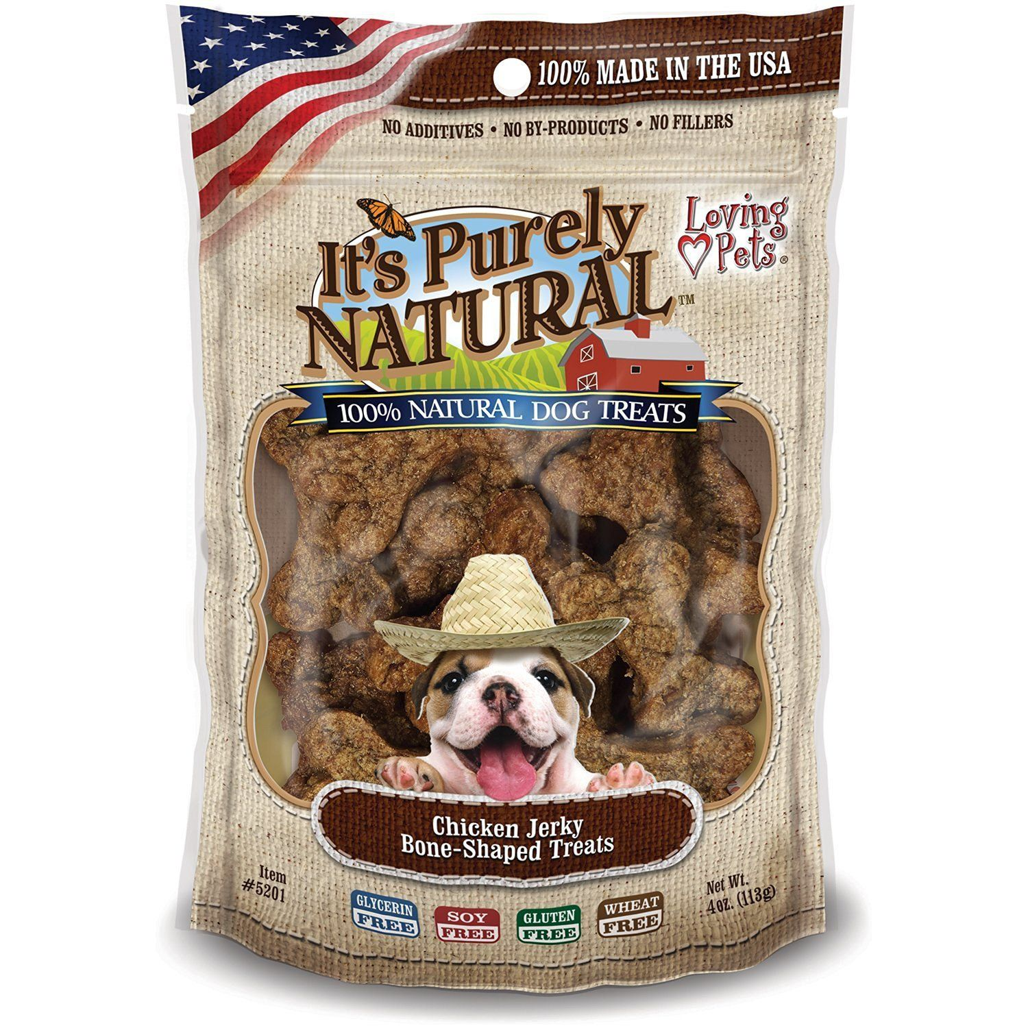 Dog Treats It's Purely Jerky Bone-Shaped Treats, 113 g
