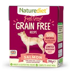 Naturediet Feel Good Grain Free Salmon 18 x 390G Dog Food