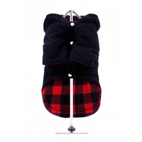 Navy Blue Duffle Dog Coat