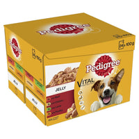 Dog Food Pedigree Pouches in Jelly or Gravy 48 pouches