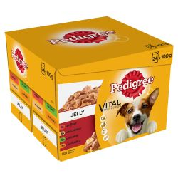 Pedigree Adult Wet Dog Food Pouches Mixed Selection in Jelly 24 x 100g