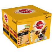 Pedigree Adult Wet Dog Food Pouches Mixed Selection in Gravy 24 x 100g