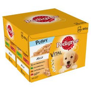 Pedigree Puppy Wet Dog Food Pouches Mixed Selection in Jelly 24x100g