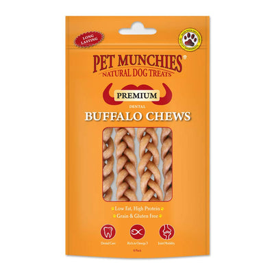 Pet Munchies Buffalo Dog Dental Chews Small 4 Pack