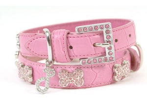 Crystal Dog Collar Ooh La La Pink