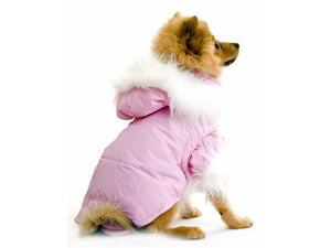 Nosy Dog Coat Parka in Pink