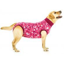 Suitical Dog Recovery Suit Pink Camouflage